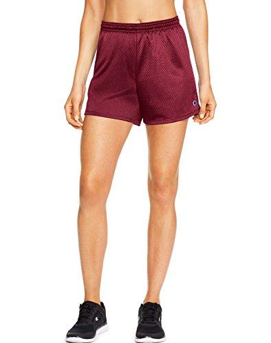 Champion Women's Mesh Short, Sideline Red, Medium