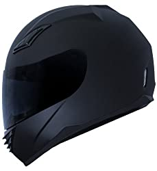Duke matte black full face motorcycle helmet DK-140