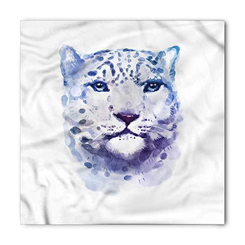 - Animal Bandana, Artsy Leopard Wild Cat, Unisex Head and Neck Tie