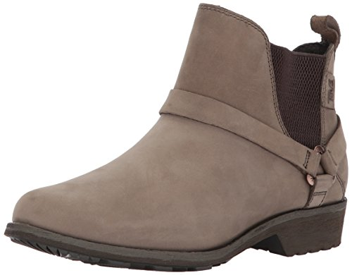 Teva Women's Delavina Dos Chelsea Premium Leather Boot Grey (Bungee Cord)