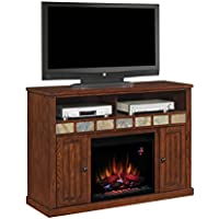 ClassicFlame 23MM0925-O125 23 Sedona TV Stand for TVs up to 57, Caramel  (Electric Fireplace Insert sold separately)