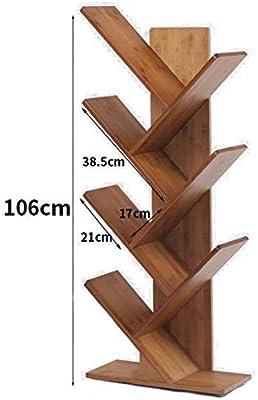 Estante Estantería de madera en forma de árbol, Estante abierto engrosado 2-6 niveles Estante de escalera Marco decorativo Organizador de almacenamiento multifuncional -D 44x20x132cm (17x8x52inch), Ta: Amazon.es: Hogar