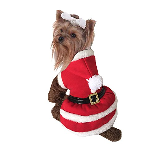 NACOCO Pet Christmas Coat Dog Cat Santa Suit skirts Dog Costumes (X-Large)