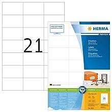 Herma 4616_ A4, 70 x 42,3 mm - Pack de 4200 etiquetas, A4, 70 x 42.3 mm, color blanco