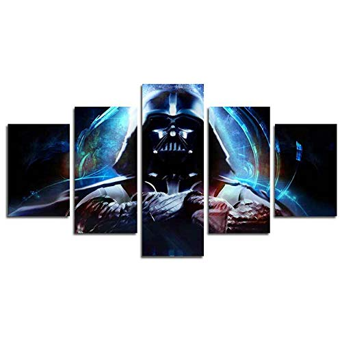 - H.Cozy 5 Panel Modern Art Wall Stormtrooper Star Wars Movie Poster Wall Decoration Painting fine Art Print on Canvas (unframed) The Product has no Frame far41 50 inch x30 inch…
