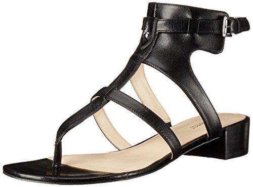 vestido cuero Justnice Black del de sandalia de la West Nine qnXg4Rt5