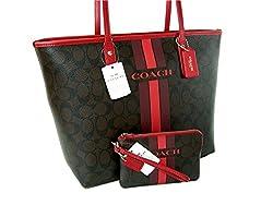 New Coach C Signature Purse Crossbody Bag Pouch & Wristlet Matching Set 3 Floral