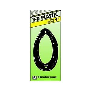Hy-Ko Prod. PN-29/0 4'' Plastic Script Style Numbers (Pack of 10)