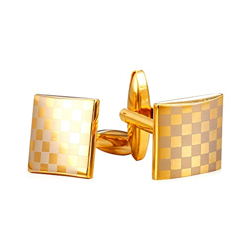 Gentlemen 18K Gold Plated Business Cufflinks 2 (Cuff Gold Plated Cufflinks)