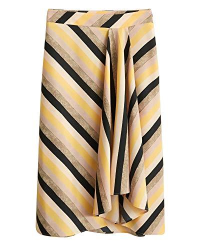 Skirt 43060850 Striped Mango Multicolor Donna qAxnBwtZ4