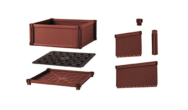 Kit Huerto Urbano Modular Rectangular - Terracota: Amazon.es: Jardín
