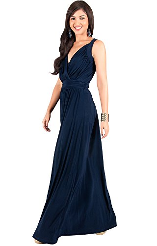 KOH KOH Womens Long Sleeveless Flowy Bridesmaids Cocktail ...