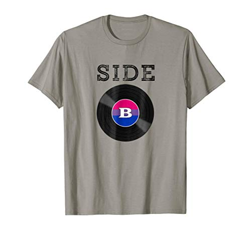 Bisexual Pride Shirt with Bisexual Flag Side B Vinyl Record
