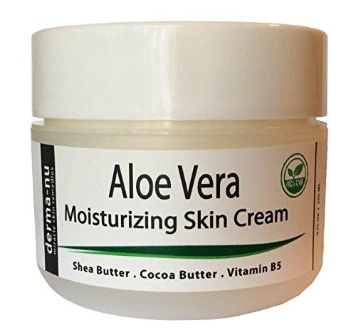 Aloe Vera Crème Hydratant quotidien - Avec karité et de cacao Beurre et vitamine B5 - les meilleurs produits de beauté pour le visage et soin du corps - Remède pour la peau sèche. Eczéma, le psoriasis, les coups de soleil, Itchy & peau craquelée - rétabli