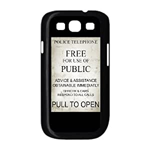 New Tardis Doctor Who Police Box Hard Plastic phone Case Cover+Free keys stand For Samsung Galaxy S3 XFZ430984