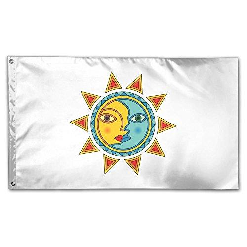 XinT Garden Flag Sun Moon Stars Yard Flag House Wall Banners
