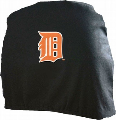 MLB Detroit Tigers Head Rest Covers, 2-Pack