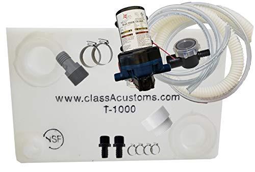 (Class A Customs 10 Gallon Water Tank & Plumbing Kit & WFCO 12 Volt Pump T-1000-BPK-12WFCO)