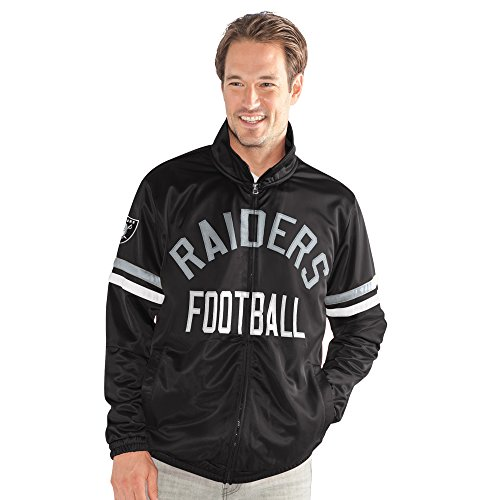 Oakland Athletics Track Jacket - G-III Sports NFL Oakland Raiders Veteran Track Jacket, Medium, Black