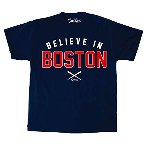 Sully's Brand Believe in Boston - Navy Crossed Bats - T-Shirt