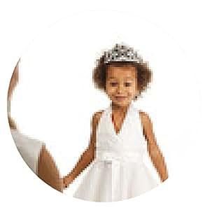 alfombrilla de ratón Retrato de la hermosa niña feliz - ronda - 20cm