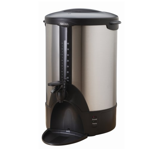 Aroma Housewares ACU-140S Stainless-Steel 40-Cup Coffee Urn ()