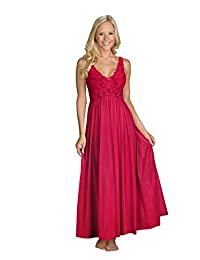Shadowline Women's Plus-Size Silhouette 53 Inch Sleeveless Long Gown