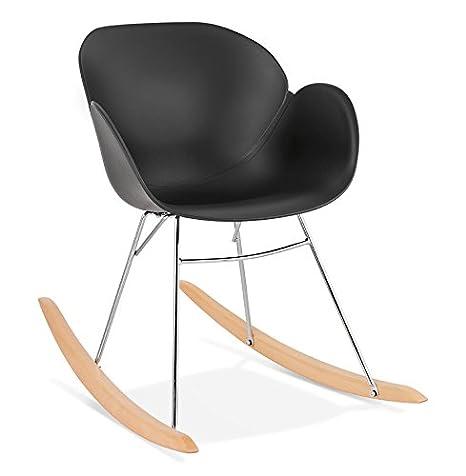 Sedie A Dondolo Design.Alterego Sedia A Dondolo Design Baskul Nera In Materia