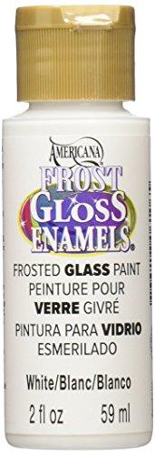 DecoArt Americana Frost Gloss Enamels Paint, 2-Ounce, White - Frost Acrylic