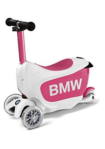 BMW 80932450902 Kids Scooter White & Rasberry