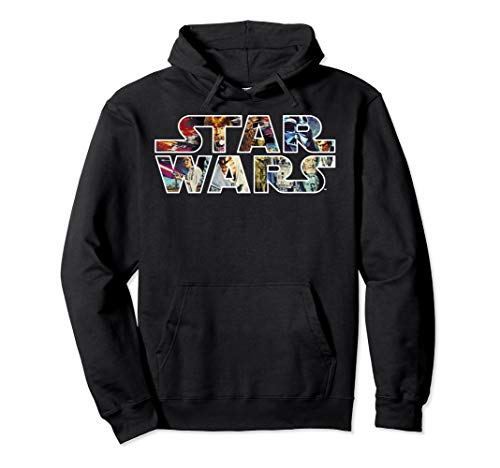 Star Wars Classic Movie Poster Logo Graphic Hoodie - Poster Classic Logo