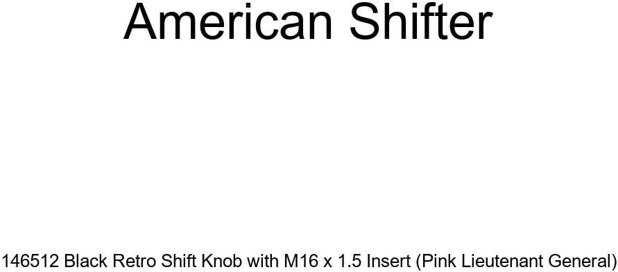 Pink Lieutenant General American Shifter 146512 Black Retro Shift Knob with M16 x 1.5 Insert