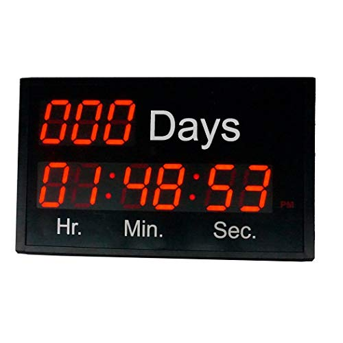 BTBSIGN Large LED Wall Clock Count Down Up Special Event Day with Wireless Remote 2.3inch 9Digits