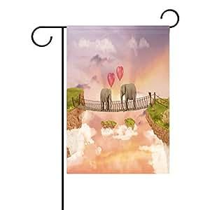 wozo elefante en puente jardín bandera globo cielo montaña poliéster bandera al aire libre casa fiesta
