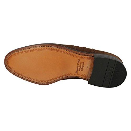 Loake - Zapatos de cordones de cuero para hombre marrón oscuro