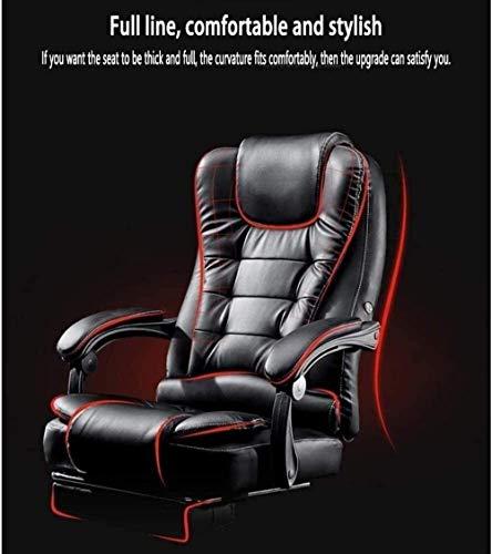 Kontorsstol, fåtöljstol datorstol svängbar hög rygg lutningsfunktion glidarmstöd stoppning skrivbordsstol utökad Legrest vilstol knästol