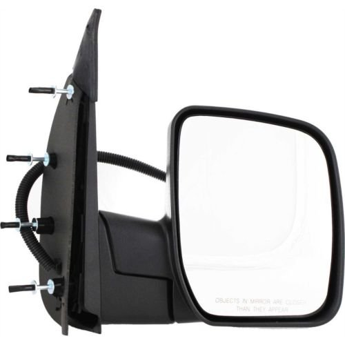 Make Auto Parts Manufacturing - Right Side Rear View Mirror For Ford Econoline Van 07-08, Power, Non-heated, Manual Folding Passenger Side Exterior Mirror, Black Textured W/O Puddle Light FO1321288