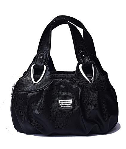 Mujer Lavada Print Ladies Frontal Cremallera Para Bolso Bandolera Handbag Superior Con vwFxqF64P1