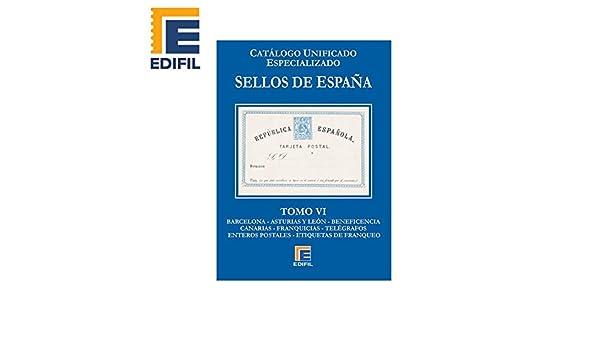 Catálogo Unificado EDFIL Especializado de Sellos de España Serie ...