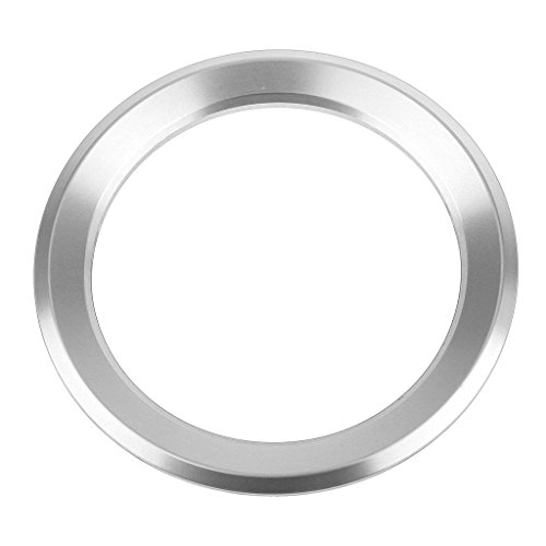 Jili Online Steering Wheel Center Ring Cover Emblem Decor Trim For BMW 1 3 5 6 Series - Silver, 55mm55mm (Silver Bmw 3 Series)