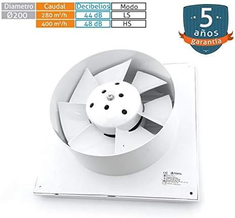 200mm Standard Ventilation Hotte Salle de Bains Ventilation Deux Vitesses Moteur