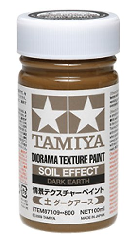 Tamiya Diorama (Diorama Textured Paint - Soil Effect Dark Earth - Paints - Tamiya)