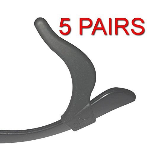 Keepons Primestretch Black Prevent Eyeglass Slipping Anti Slip Anti Slide Eyewear Sunglasses Spectacle Glasses Temple Tip Sports Ear Hook Sleeve Retainer (5 - Slipping Sunglasses