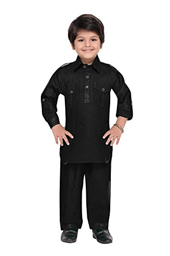 ahhaaaa Kids Indian Ethnic Kurta and Payjama Pathani Suit for Boys