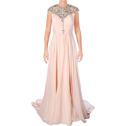Terani Couture Plus Chiffon Embellished Formal Dress Pink 18 by Terani Couture