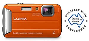 Panasonic Waterproof, Shockproof, Freezeproof, Dustproof Waterproof, Shockproof, Freezeproof, Dustproof Lumix FT30 Tough Underwater Digital Point and Shoot Camera, Orange (DMC-FT30GN-D)