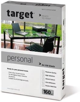 Target Personal Kopierpapier 160g/m² DIN-A4 250 Blatt Druckerpapier weiß