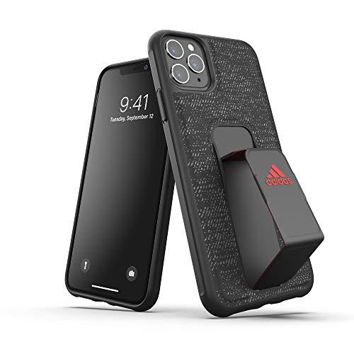 adidas Sports Kompatibel mit iPhone 11 Pro Max Hülle, Griffiger Griff Stand, Schutzhülle Handyhülle - Schwarz Rot