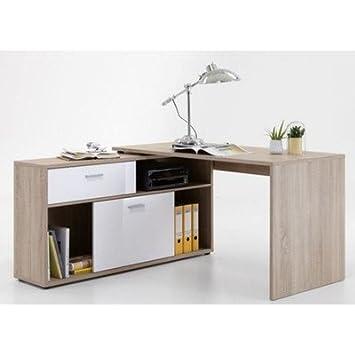 Fine Fmd Diego Canadian Oak High Gloss White 138X67 5X75 Cm Interior Design Ideas Inesswwsoteloinfo