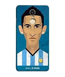 ColorKing Football Dimaria Argentina 04 Blue shell case cover for Xiaomi Redmi 5